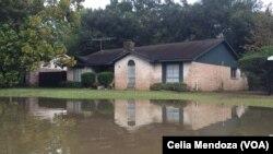 Nước lũ tại khu Memorial Hill Houston, Texas.
