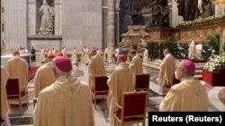 Giáo hoàng Phanxicô làm lễ tại Nhà thờ St. Peter, Vatican (ảnh tư liệu).