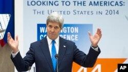 El secretario John Kerry pidió a los líderes de América Latina seguir trabajando juntos por los mismos ideales de paz, crecimiento económico y prosperidad.
