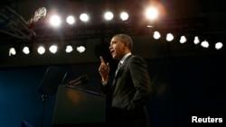El presidente Barack Obama se dirige a la Asociación Nacional de Gobernadores en la Casa Blanca.