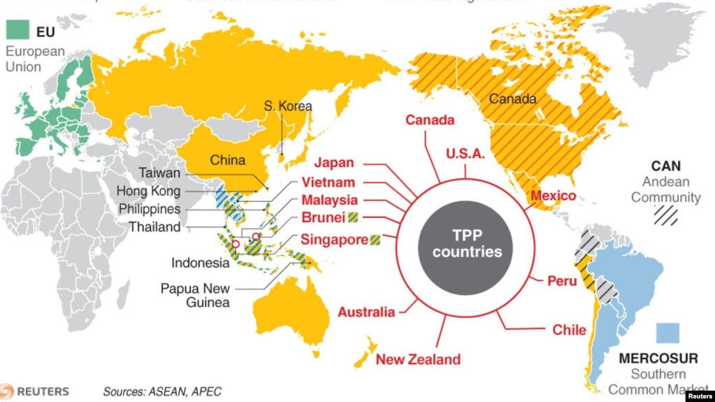 Nations React To Pacific Trade Agreements