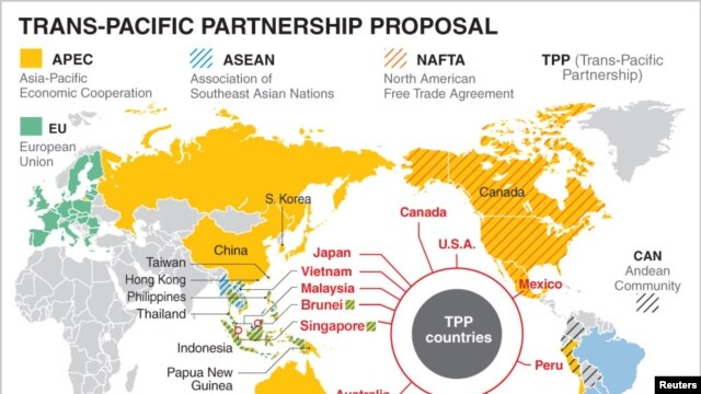 TPP Countries and Other Global Trade Agreements