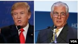 Donald Trump (izquierda) y Rex Tilleron, el nominado para secretario de Estado de EE.UU. revisarían toda la ayuda al exterior.