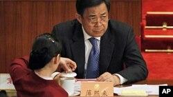 前重庆市委书记的薄熙来2012年3月3号在北京出席中国政协会议开幕式(资料照片)