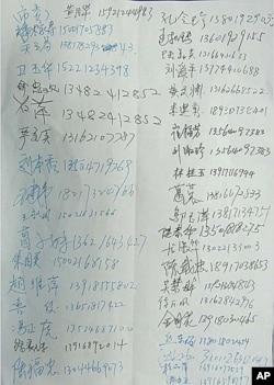 上海9月5日維護公民訴訟權集体上訪人士簽名