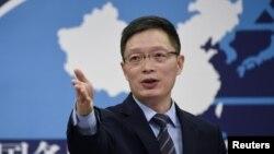 中國國台辦發言人安峰山。 (資料照片)