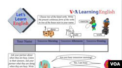 Let's Learn English Lesson 8 Activity Sheet