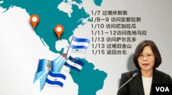 Tsai Ingwen's path across America