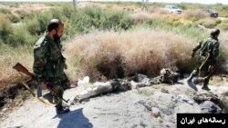 عکسی که رسانههای ایران از درگیریهای قبلی سپاه در مناطق مرزی منتشر کردهاند.