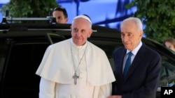 教宗方济各5月26日在耶路撒冷会晤以色列总统佩雷斯