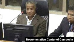 The first testimony in Case 002/02 against Khieu Samphan and Nuon Chea is given by Mr. Meas Sokha alias Thlang. His testimony is related to Tram Kok Cooperatives and Kraing Ta Chan security centre in Takeo province.