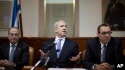 Биньямин Нетаньяху (в центре) на заседании кабинета министров. Иерусалим, Израиль. 10 февраля 2013 года