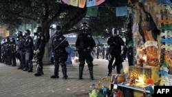Policajci u centru Ouklenda, u Kaliforniji, 3. novembar 2011.