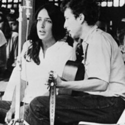 Joan Baez and Bob Dylan perform at the Newport Jazz Festival in Newport, Rhode Island, in 1963