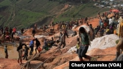Le site de la mine Rubaya, le 1er mars 2019. (VOA/Charly Kasereka)