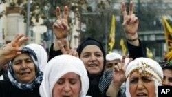 Թուրքիայի մայրաքաղաք Անկարայում «Նովրուզ» տոնը նշող քուրդ կանայք
