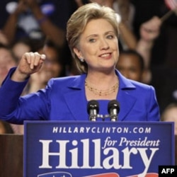 Senator Hillary Clinton campaigning in 2008