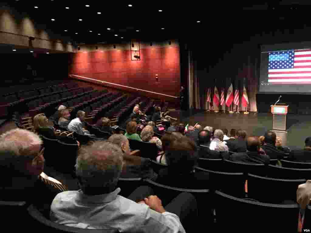 کنفرانس ائتلاف نیروهای اپوزیسیون ایران در دانشگاه جورج واشنگتن آمریکا