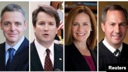 미 연방대법관 후보로 거론되는 레이먼드 케스리지(왼쪽부터), 브렛 캐버노, 에이미 코니 배럿, 토마스 하디먼.