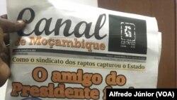 """Capa do """"Canal de Moçambique"""", dias após a vandalização da sua redação."""