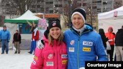 Brother and sister and U.S. Nordic Ski Team teammates Sadie and Erik Bjornsen (Photo by Robert Whitney)