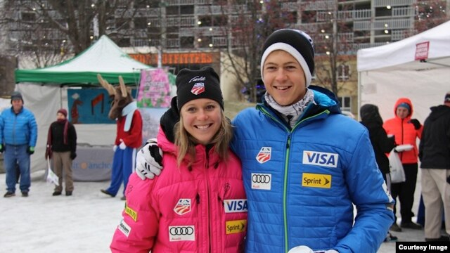 Brother and sister and U.S. Nordic Ski Team teammates Sadie and Erik Bjornsen (Photo by Robert Whitney)