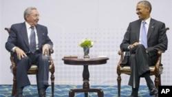روسای جمهوری آمریکا و کوبا اردیبهشت امسال با هم دیدار کردند.