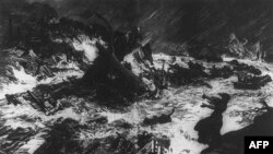 Với sức mạnh của thác nước đập bị vỡ tung, dồn một khối nước từ độ cao 18 mét xuống thành phố Johnston trong chớp mắt khiến