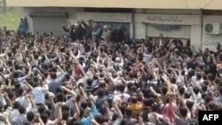 Biểu tình ở thành phố Banias của Syria