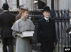 "Mia Wasikowska, left, and Glenn Close in ""Albert Nobbs"""