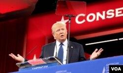 房地产大亨川普在保守派大会上发言
