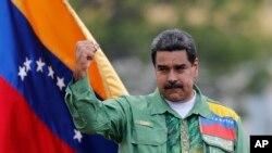 Le président vénézuélien Nicolas Maduro lors du meeting de campagne de clôture à Caracas, le 17 mai 2018.