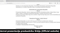 Član 9 iz Zakona o predsedniku (Foto: zvanična internet prezentacija predsednika Srbije)