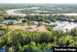 Prekopana obala rijeke Drine