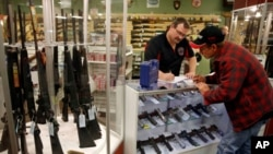 FILE - Guns were a very popular item this Black Friday, according to FBI statistics.