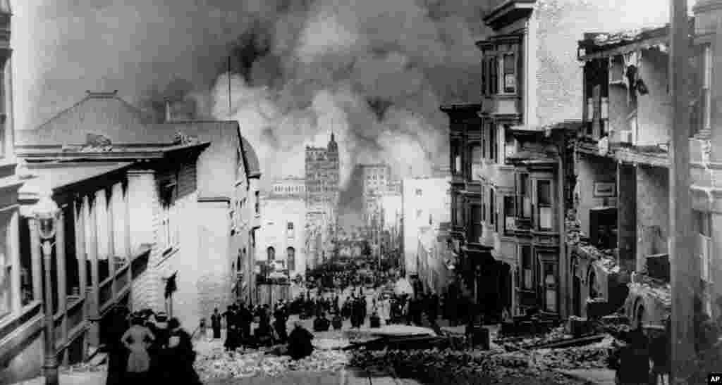 امروز در تاریخ: ۱۸ آوریل سال ۱۹۰۶- خسارت ناشی از زلزله ویرانگر سانفرانسیسکو