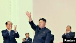 Kim Jong-Un mendapatkan gelar dan jabatan baru di Pyongyang (11/4).
