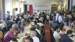 نشست مخالفان دولت سوریه در دمشق. ۲۷ ژوئن ۲۰۱۱