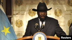FILE - South Sudan's President Salva Kiir has replaced his country's 10 states with 28 new ones, endangering a power-sharing deal, his critics say.