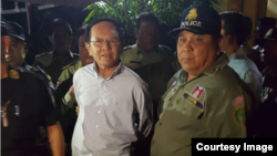 CNRP president Kem Sokha was arrested at his home in Phnom Penh, Cambodia, September 3, 2017. (Courtesy image)