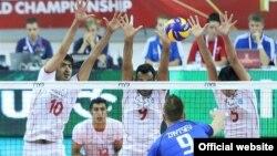 이란 남자배구 국가대표팀의 경기 장면 (자료사진)
