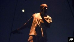 Kanye West se produit au United Center, à Chicago, le 7 octobre 2016.