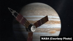 NASA's solar-powered Juno is expected to begin orbiting the planet Jupiter on July 4, 2016, five years after the spacecraft's launch.