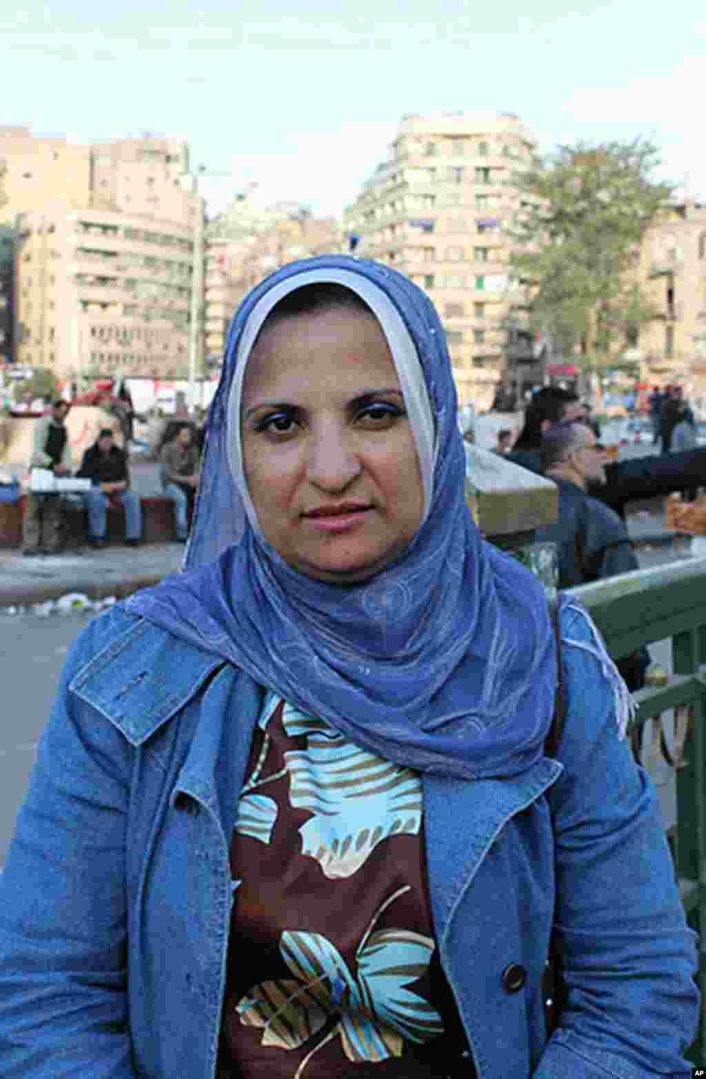 "Dr. Azza Azmi, a researcher at an agricultural center in Giza says, ""Unfortunately, I think the Supreme Council of the Armed Forces has failed to manage the situation here in Egypt for the past year. The military council should have complied with the dema"