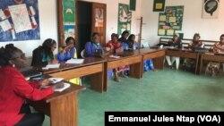 Des responsables d'associations lors d'un atelier sur les violences sexuelles contre les enfants dans le 2ème arrondissement à Yaoundé, le 1er mars 2019. (VOA/Emmanuel Jules Ntap)