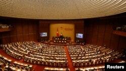 Lễ khai mạc phiên họp đầu tiên của Quốc hội khoá mới ở hội trường Ba Đình, Hà Nội, 20/7/2016.