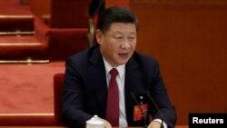 시진핑 중국 국가주석이 지난 10월 베이징 인민대회당에서 열린 제19차 공산당 전국인민대표대회 폐막식에서 발언하고 있다.