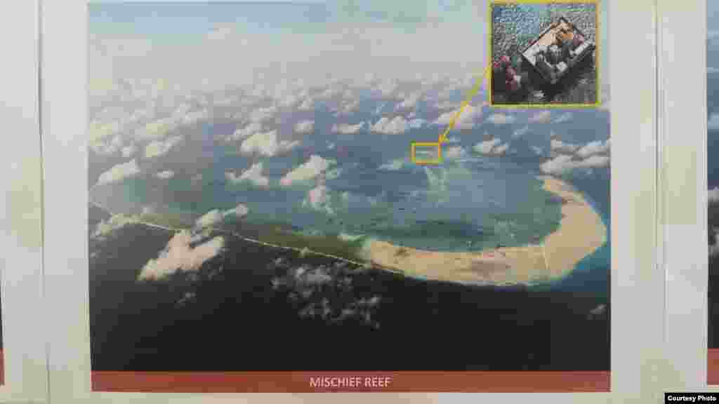Philippine military's images of China's reclamation in the Spratlys, Mischief Reef. (Armed Forces of the Philippines)