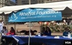 阿尔哈雅特基金会2017年9月3日于华盛顿叙利亚节庆现场(美国之音扬之初摄)