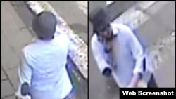 Nuevas imágenes divulgadas por la policía belga del tercer terrorista que participó en el atentado al aeropuerto de Bélgica.